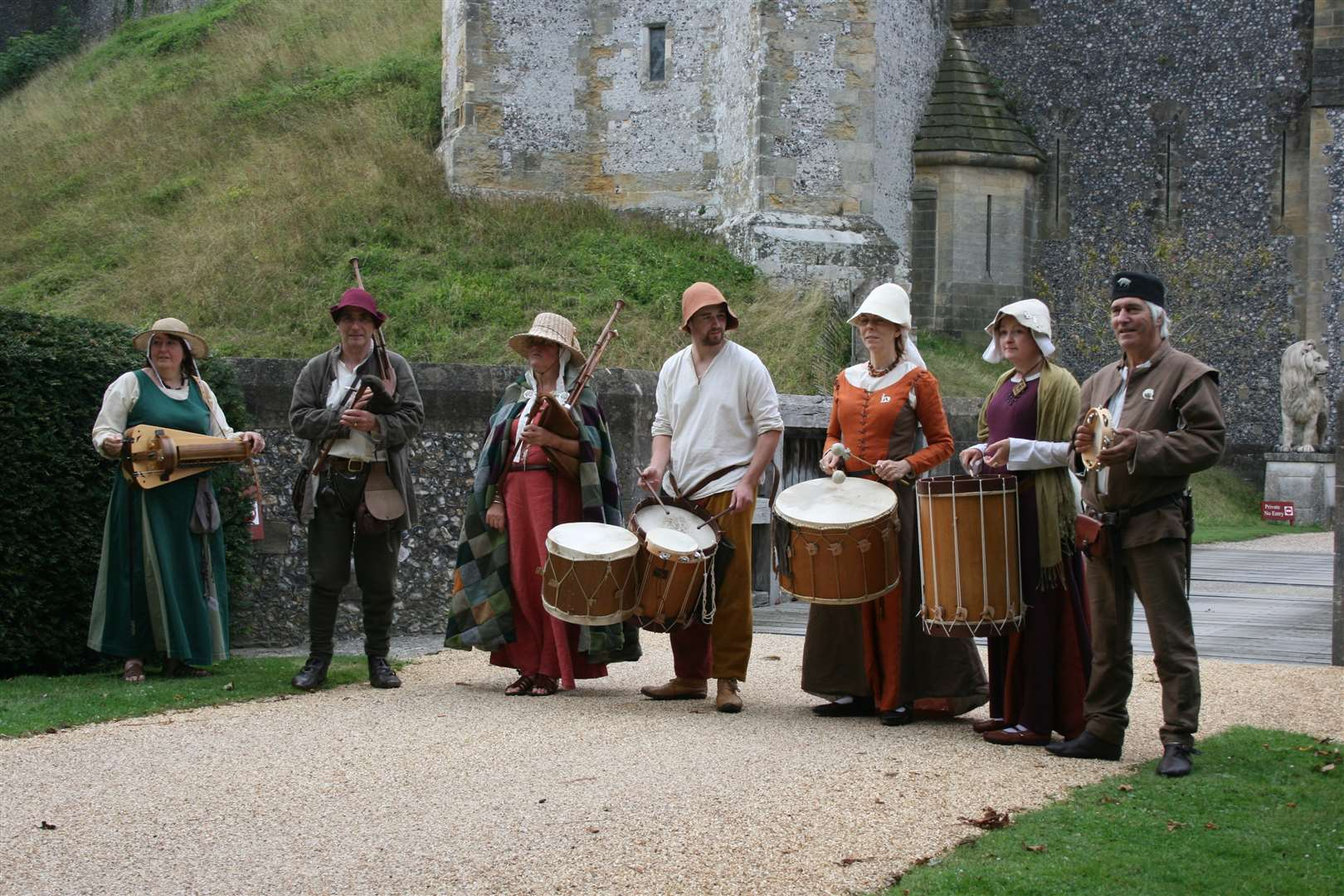 Medieval band Rough Musicke celebrating the Magna Carta arrival in Sandwich