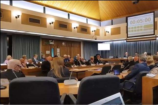 Councillors voted at last week's meeting