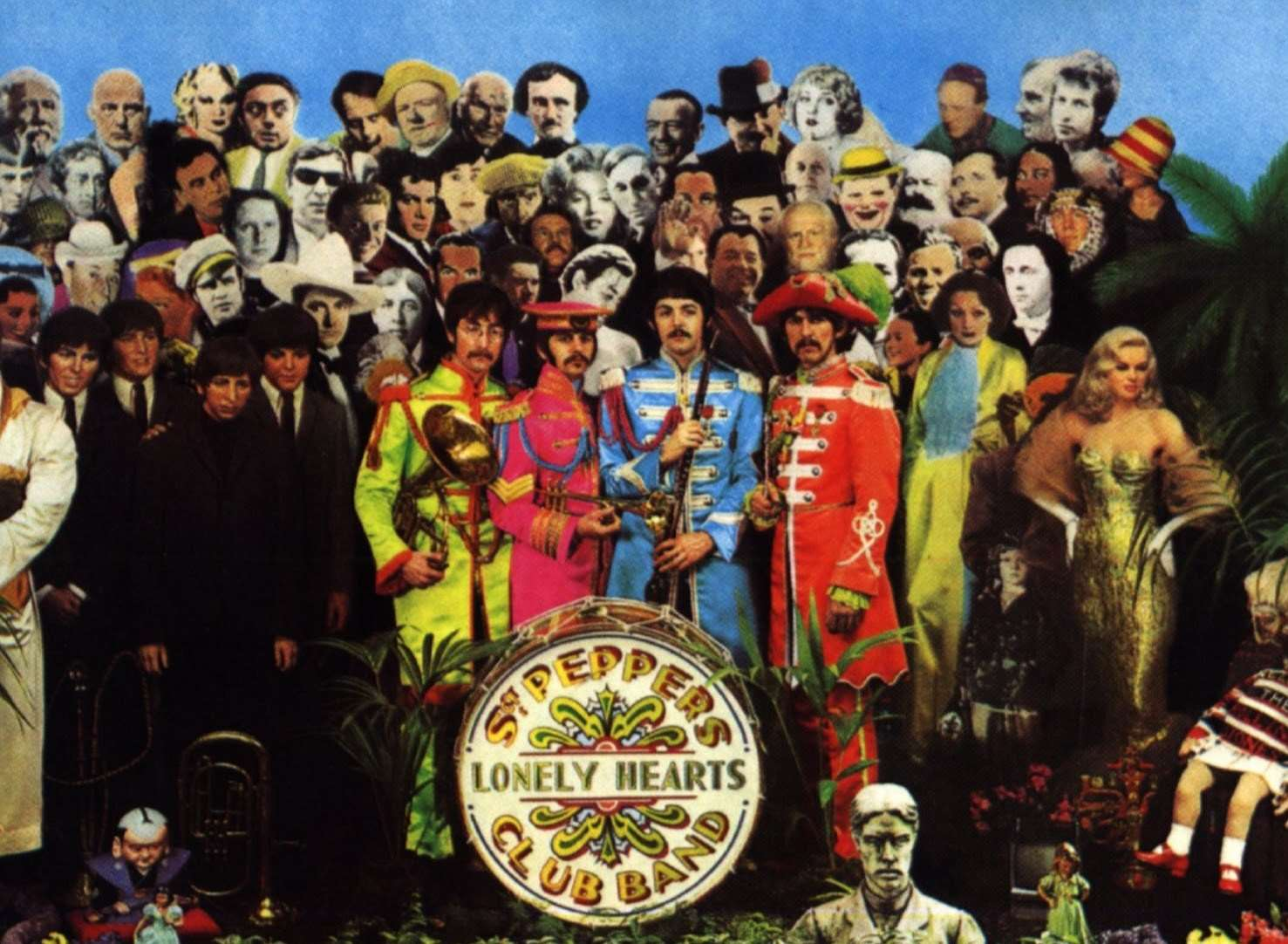 Dartford-born Peter Blake designed the Sgt Pepper album