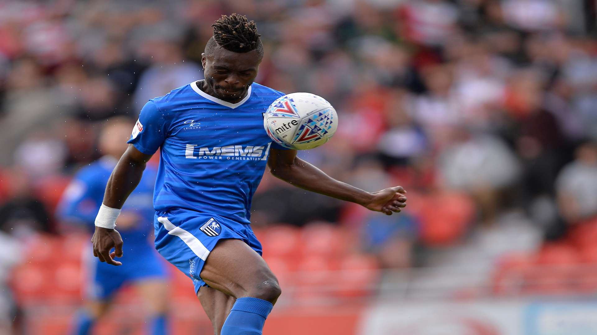 Gabriel Zakuani on the ball for Gillingham Picture: Ady Kerry
