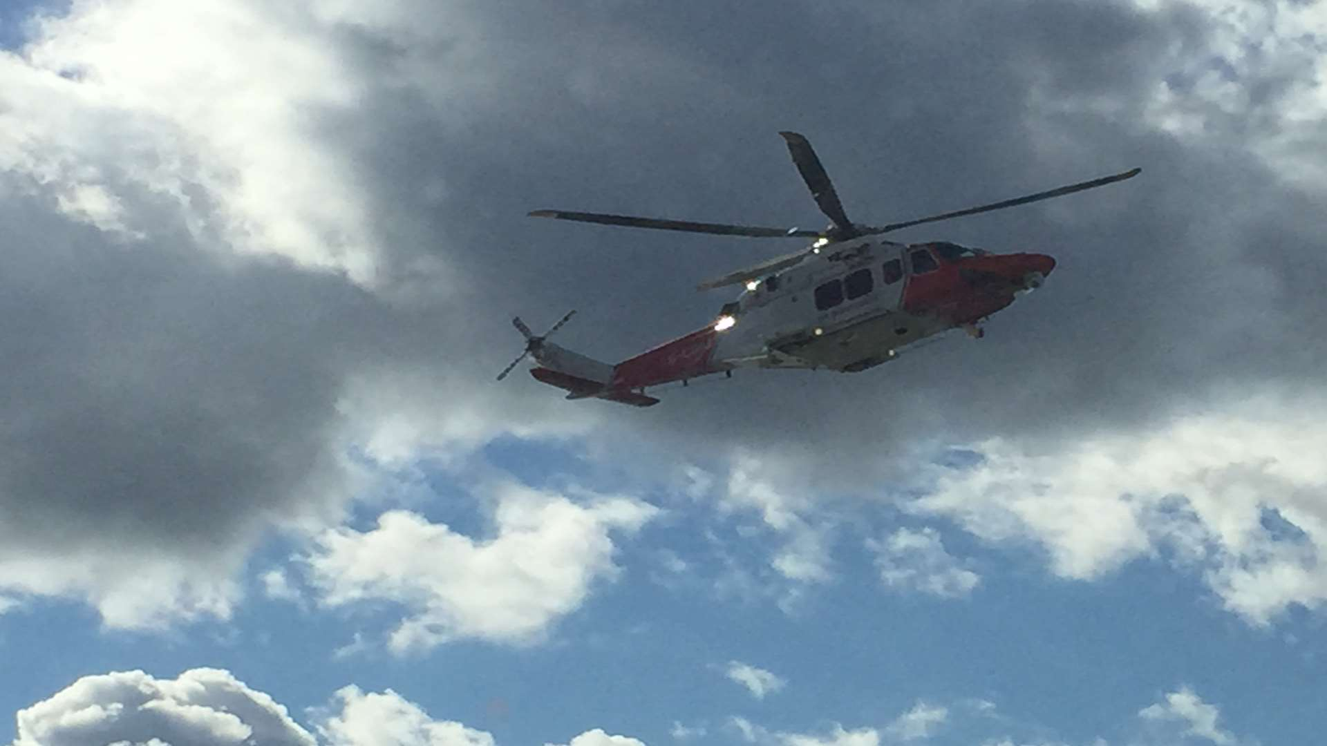 The Coastguard helicopter has been scrambled. Library image.