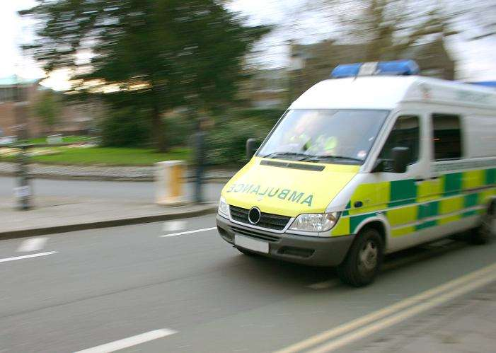 An ambulance was called to the crash. File picture