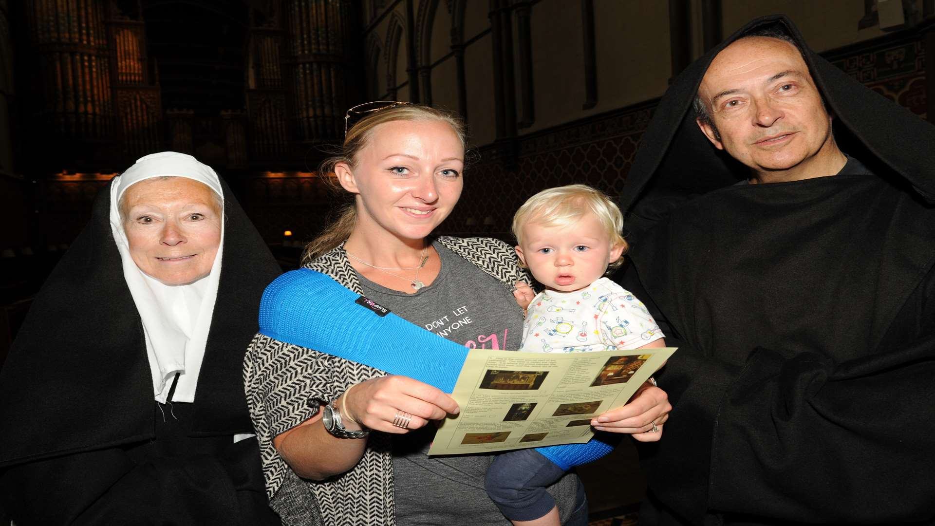 Hidden Treasures tours and talks. Sister Genevieve and Brother Hugh with, Becky and Toby Bosman. Picture: Steve Crispe