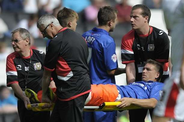 Cody McDonald suffered knee and ankle injuries at MK Dons last week Picture: Barry Goodwin