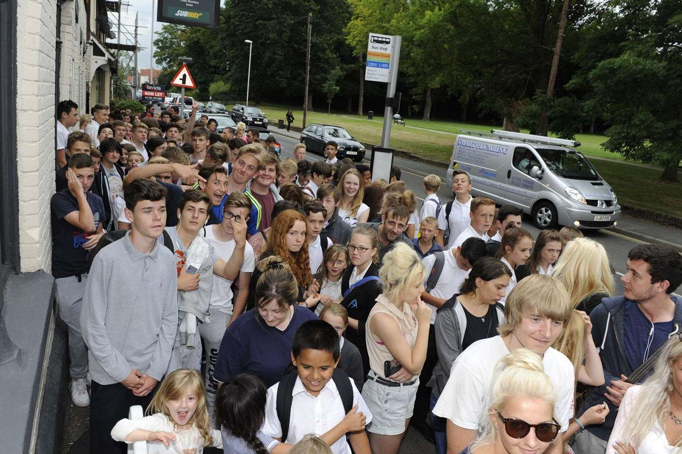The queues for the new Subway in Faversham