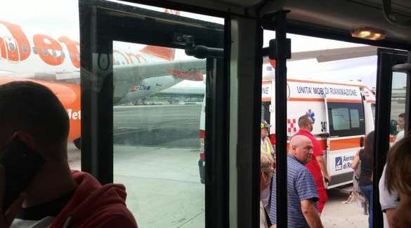 Italian paramedics met the flight and treated passengers and crew. Picture: @AWDriven