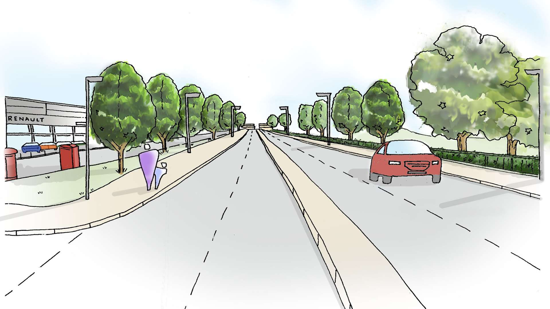 An artist's impression of the new Chart Road