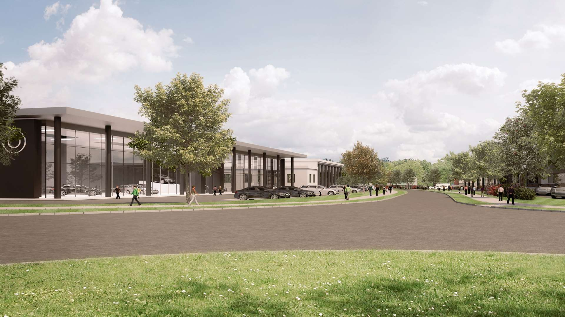 The commercial space proposed at Waterbrook Park