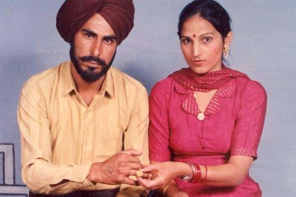 Balwinder Singh Aulkh, who died after a freak accident, with his wife Paramjit Kaur Aulkh