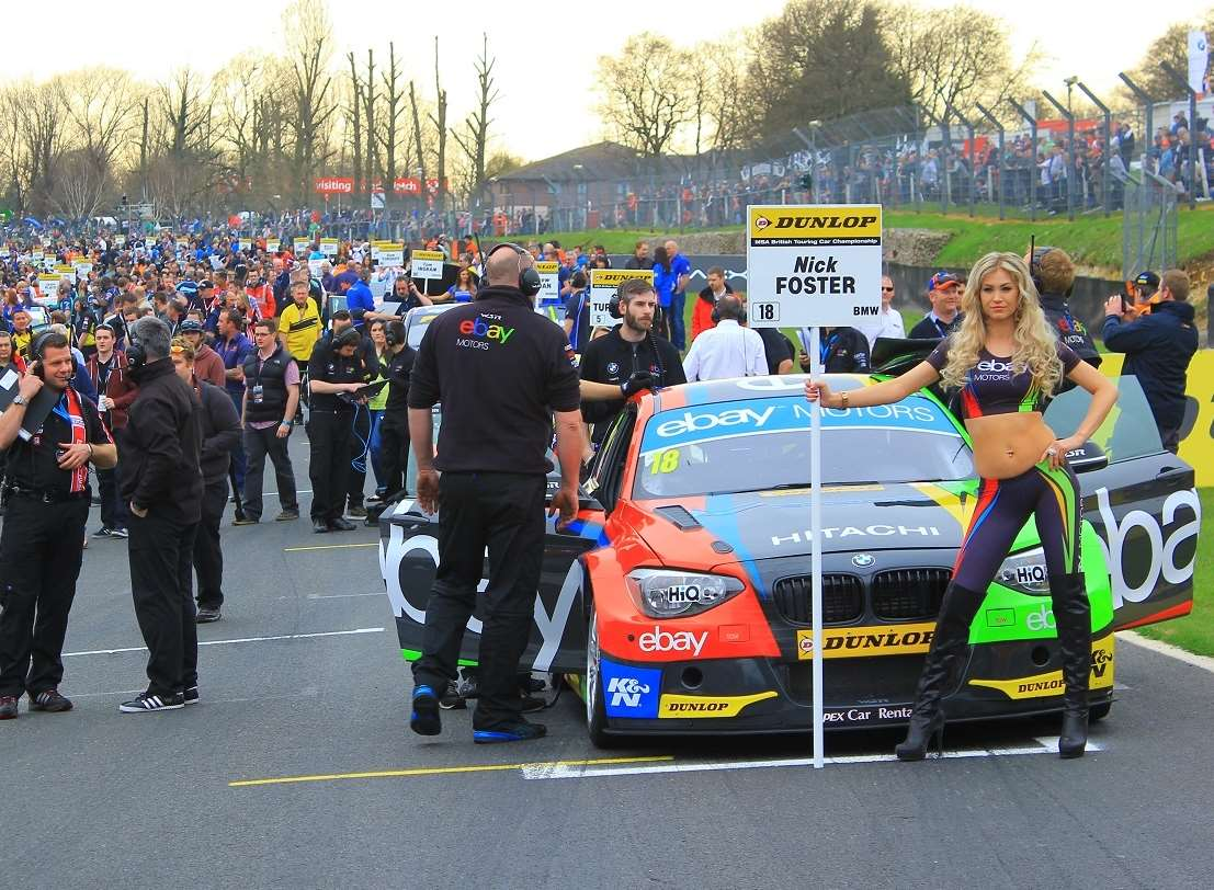 The busy BTCC grid at Brands Hatch Picture: Joe Wright