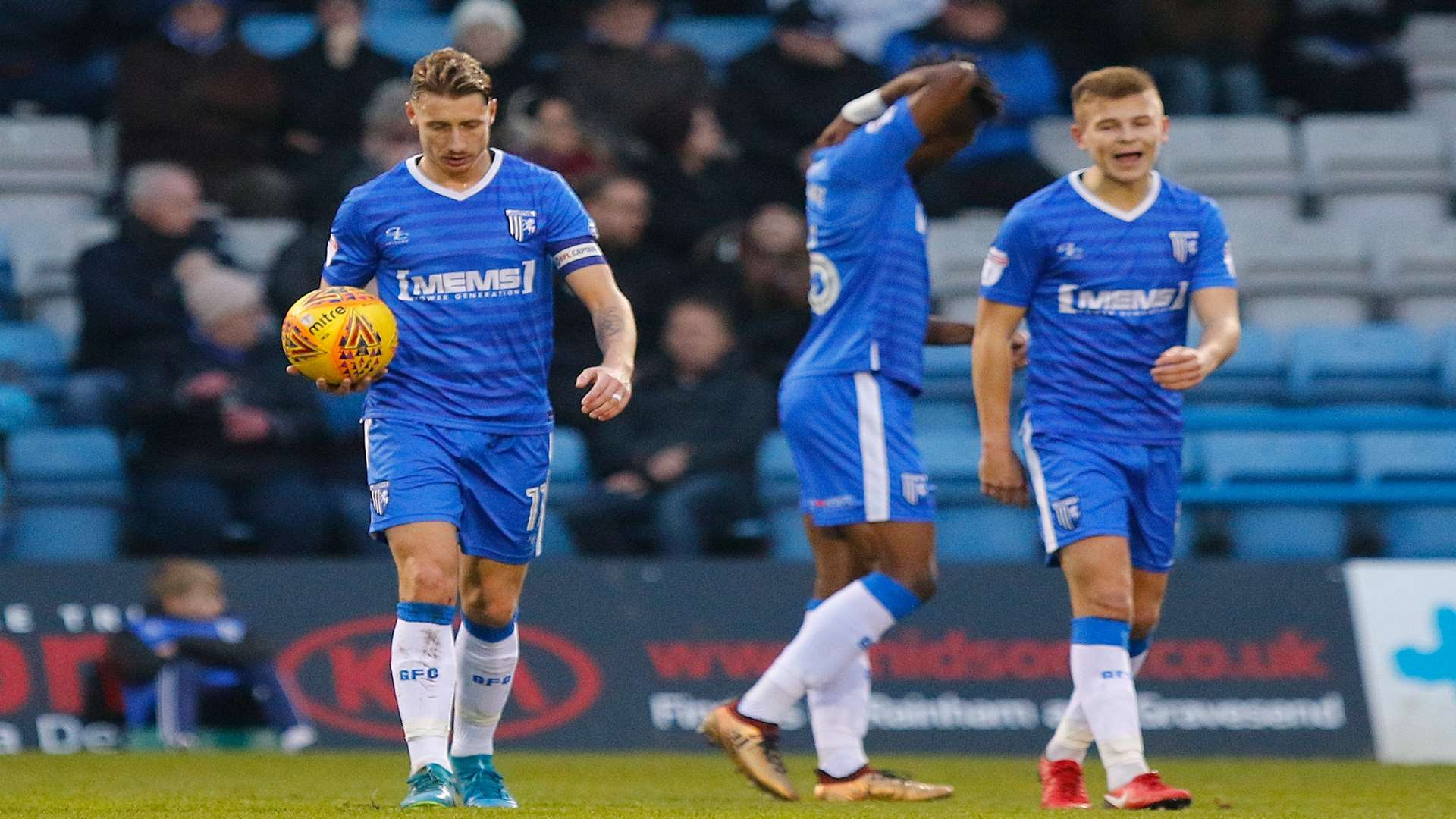 Gills have it all to do after Rochdale's 27th-minute opener Picture: Andy Jones