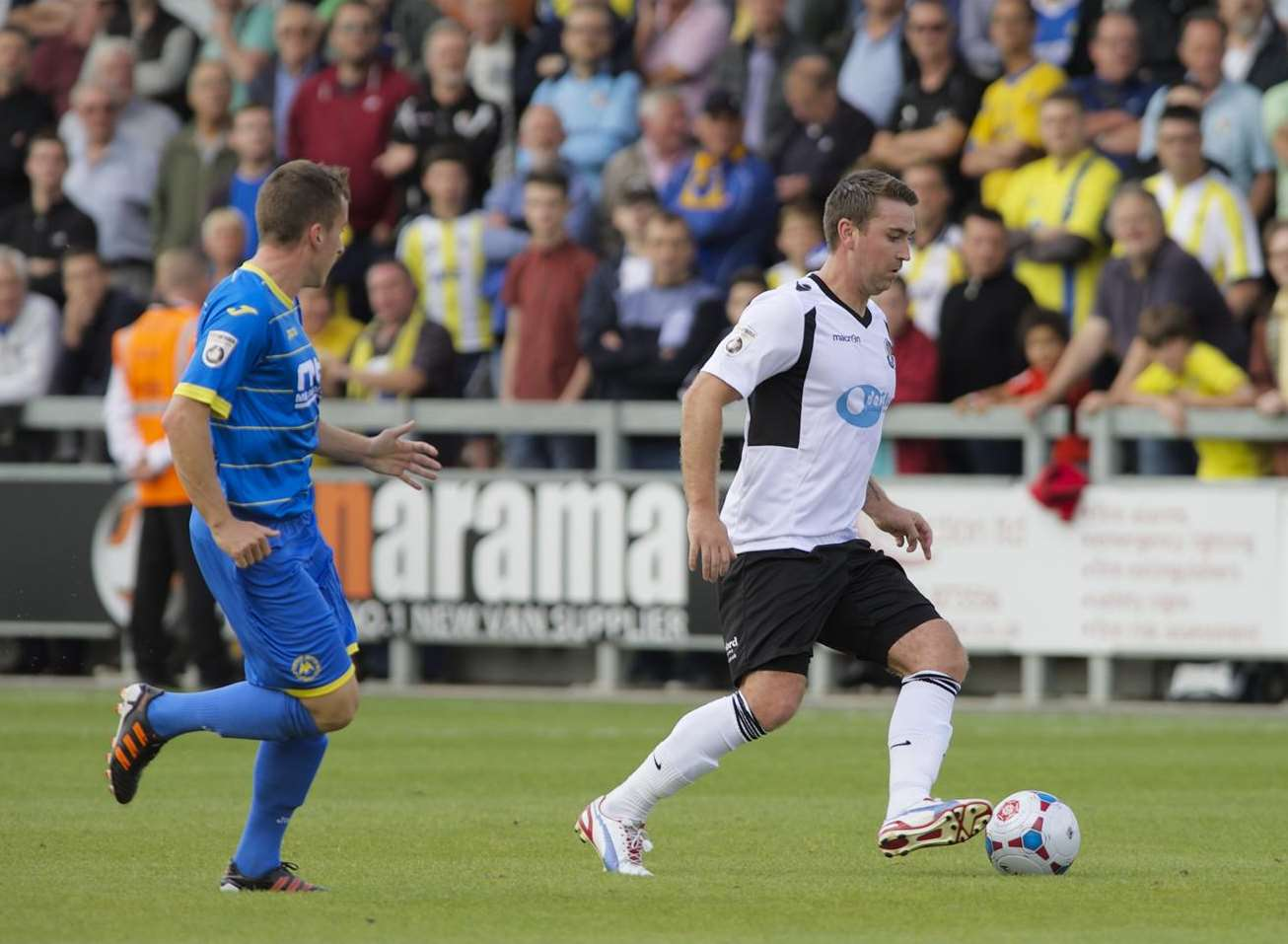 Dartford's Peter Sweeney on the ball against Torquay Picture: Andy Payton