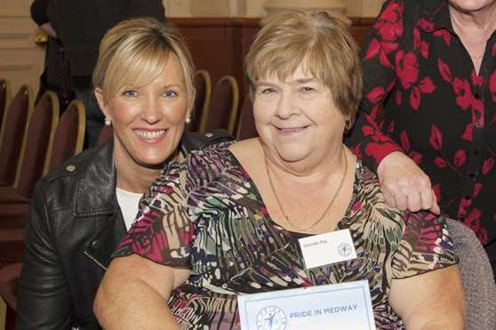 Glenda Pay (right) was sponsor Medway Council's winner during the Pride in Medway awards