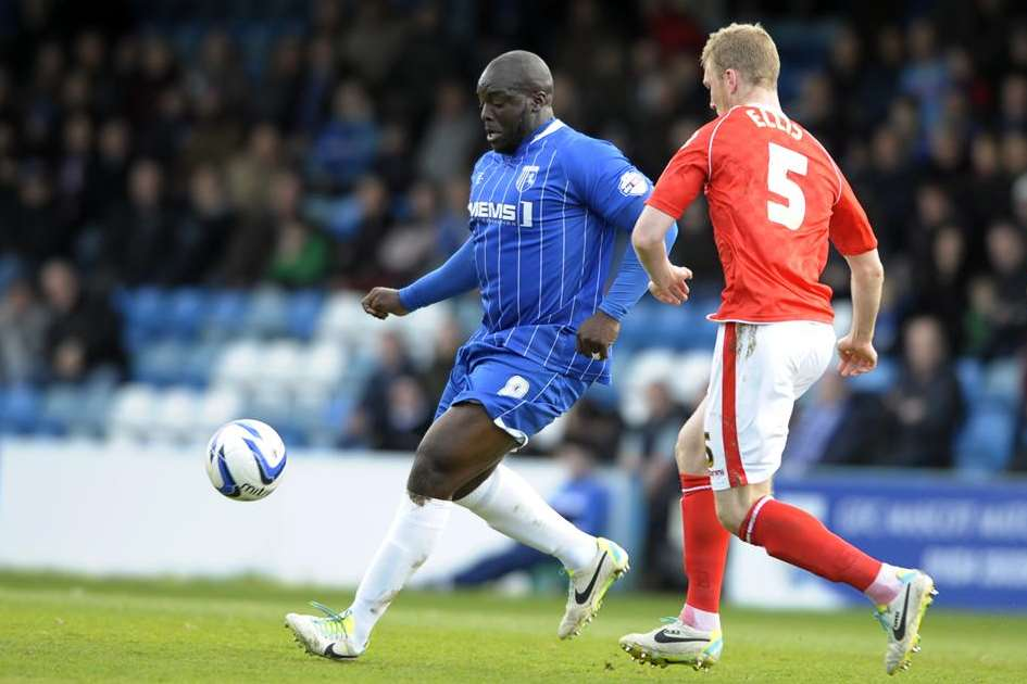 Adebayo Akinfenwa in action for Gillingham Picture: Barry Goodwin
