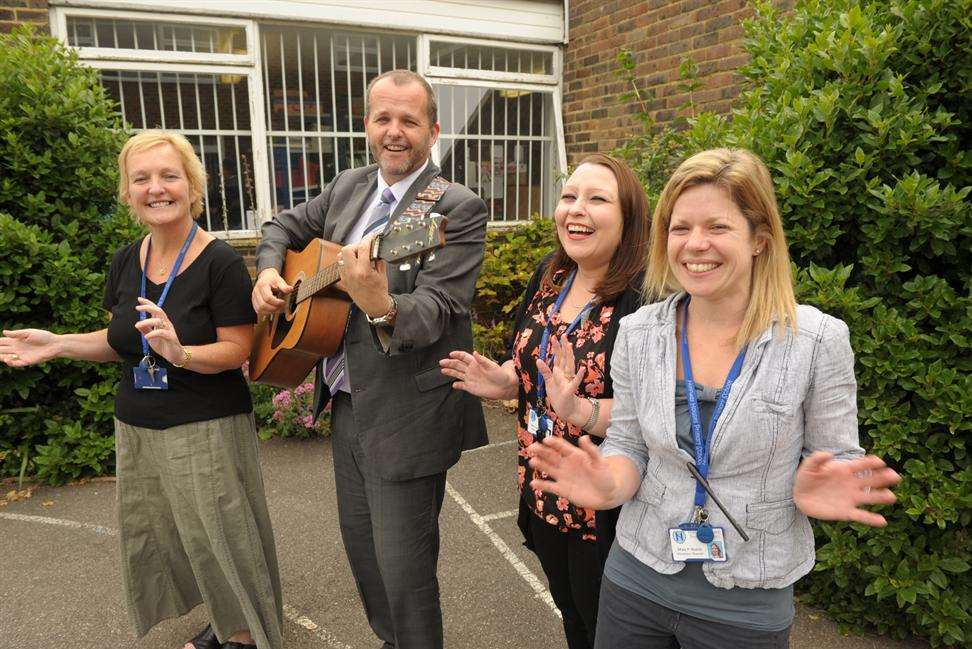 Halfway Houses Primary School teachers are hoping their music video will go viral