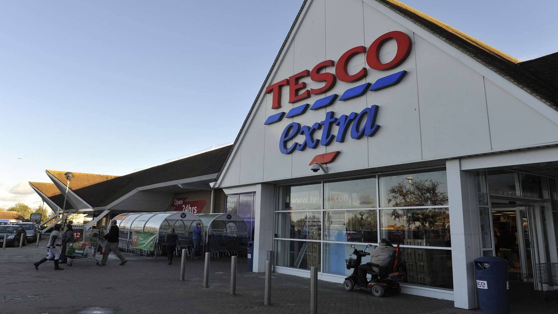 A Tesco Extra store in Whitstable