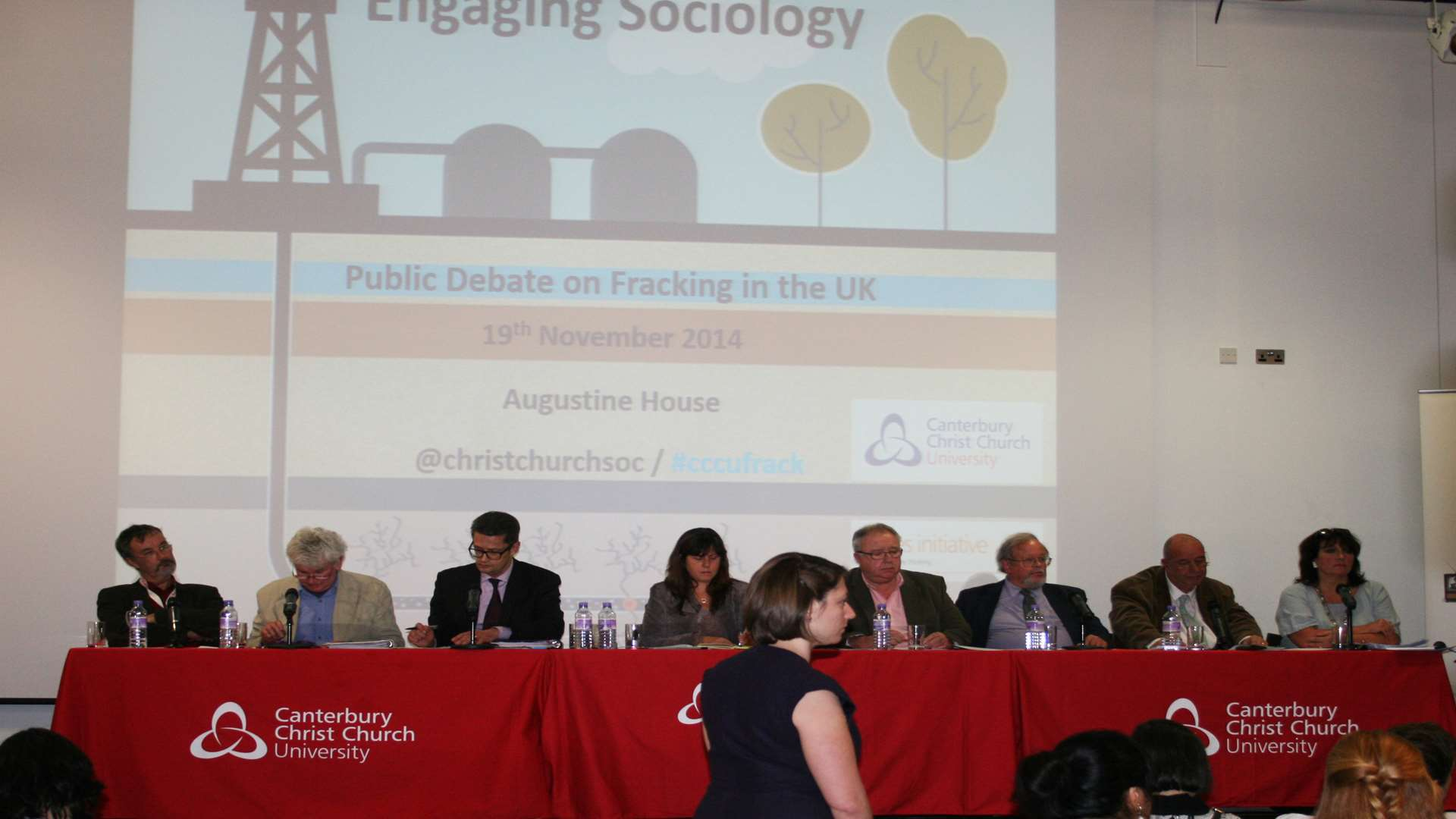 The public debate on fracking. Picture: Canterbury Christ Church University
