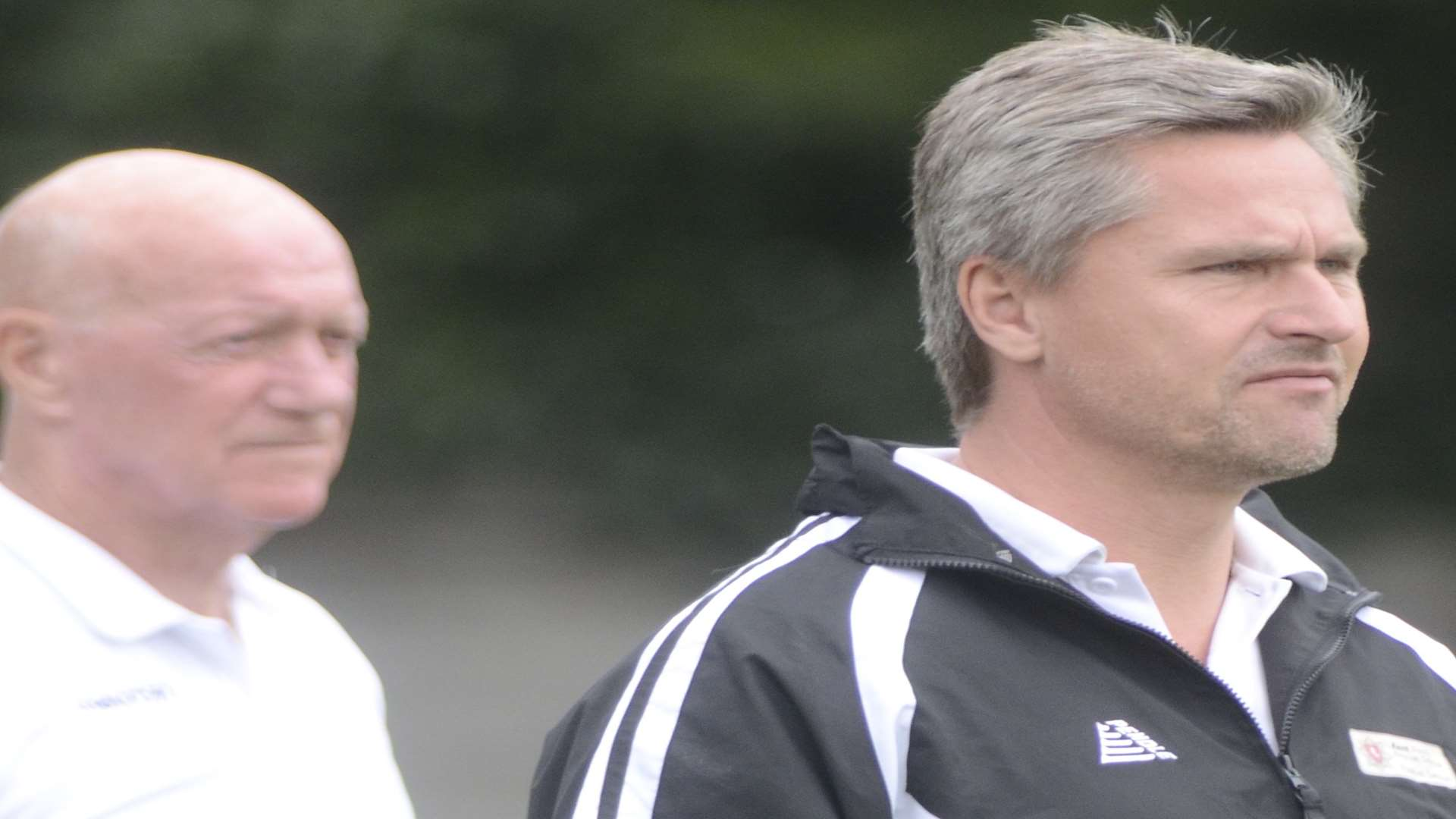 Faversham manager Ray Turner with assistant Clive Walker Picture:Chris Davey