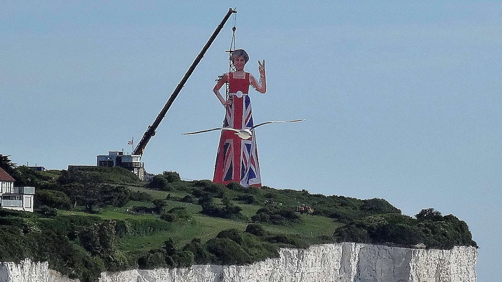 The image of Theresa May on the White Cliffs just before the general election in June. Picture courtesy of Simon Hare
