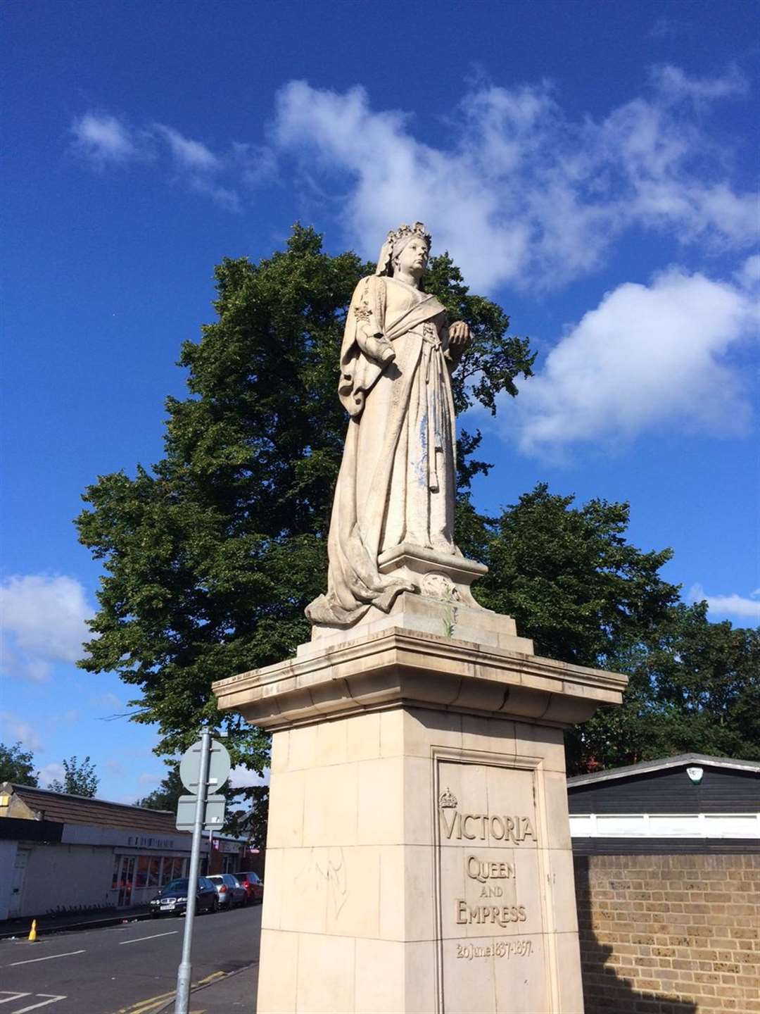 The Victoria statue is a listed monument and has been standing in the town for more than a century.