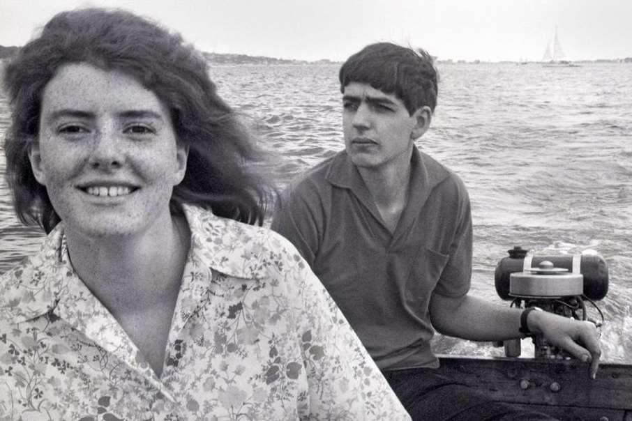 Teenage sweethearts Cathy Roberts and Alan Crotty, photographed in 1968 when he first proposed
