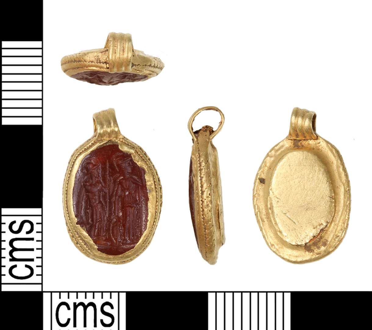The Anglo Saxon pendant was found in August 2018 (12332989)