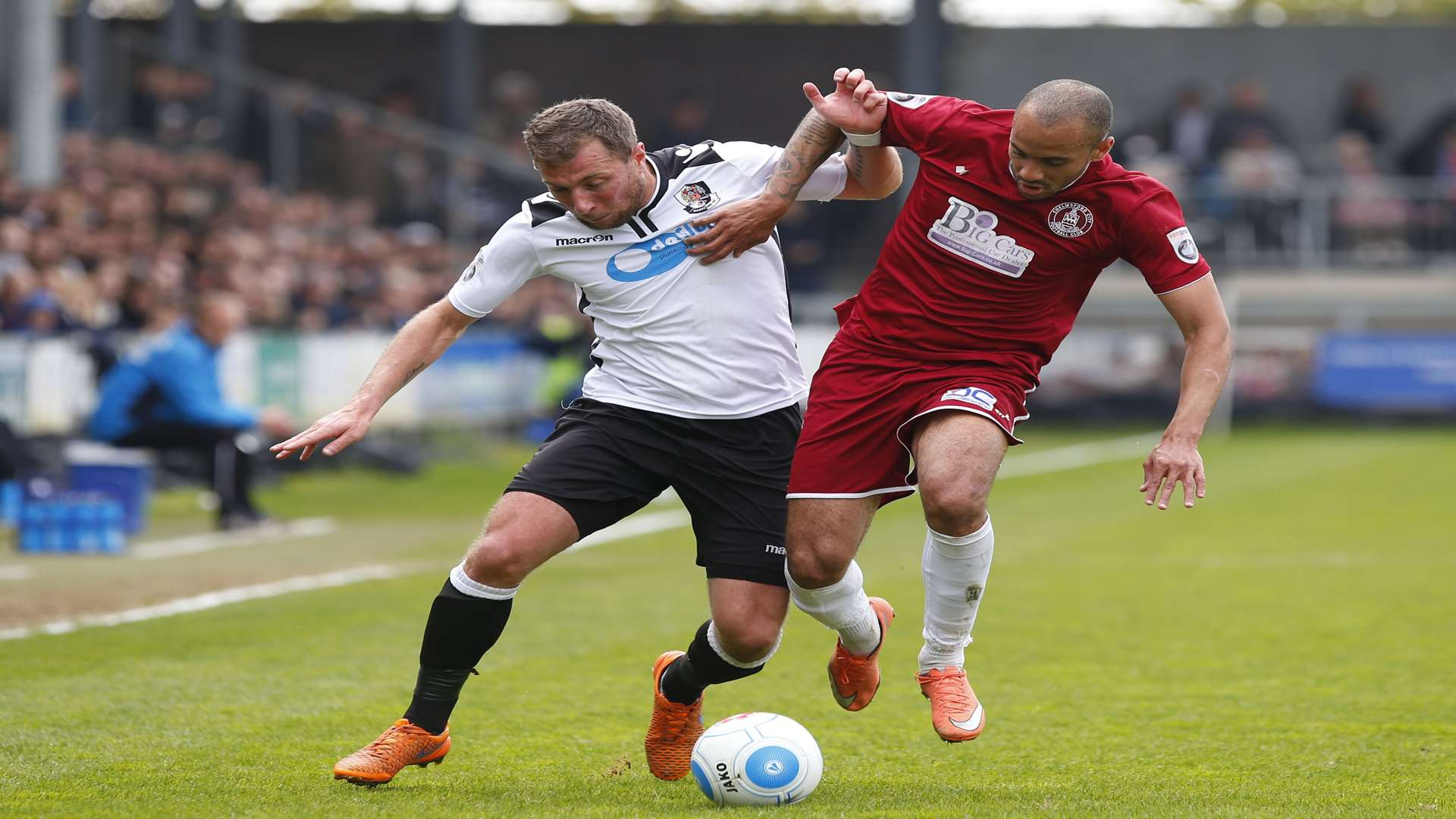 Dartford lost to Chelmsford over two legs in the play-offs last season Picture: Andy Jones
