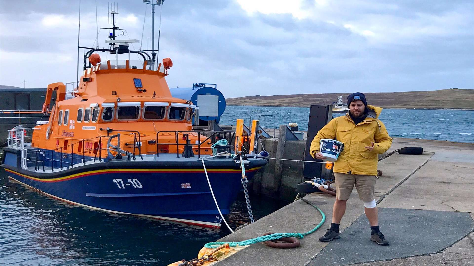 Alex has returned to the same spot he left from. Pic: RNLI