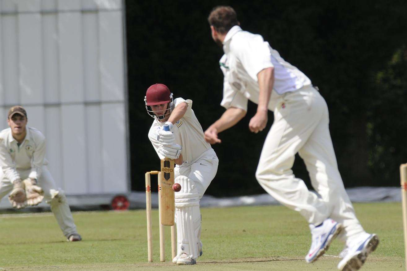 Canterbury opener James Lilley during his innings of 22 against Blackheath on Saturday.