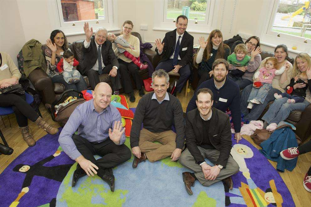 Big Lottery representatives at All Saints Children's Centre, Chatham