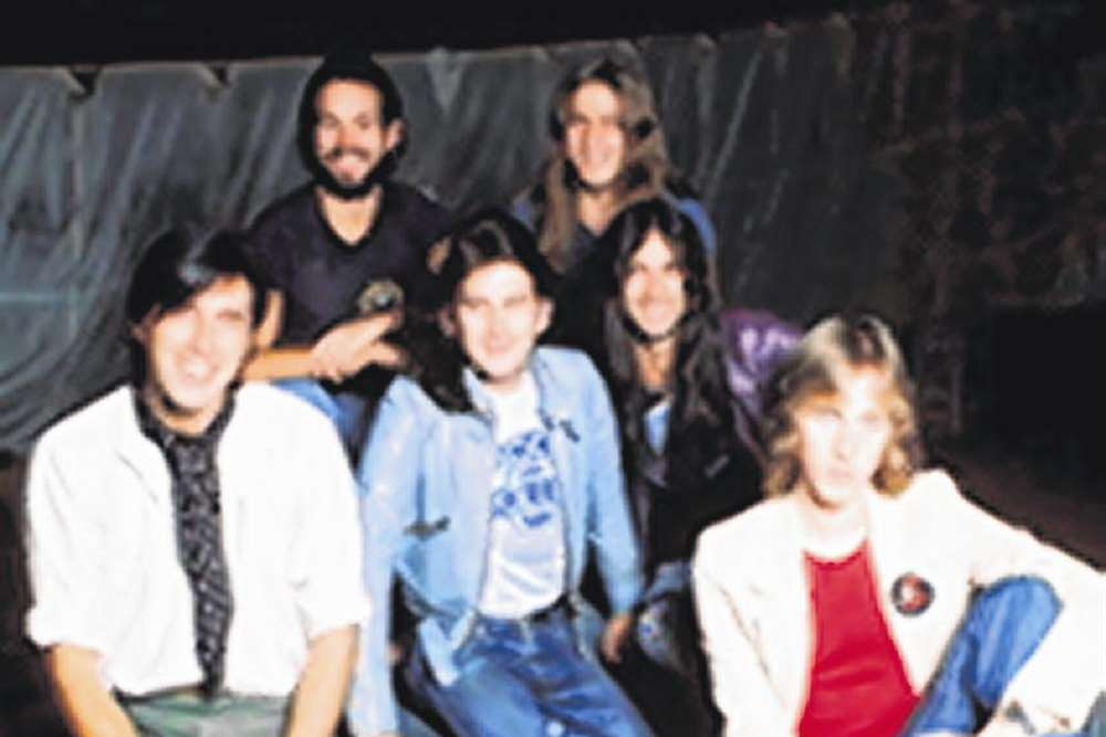 John (second right) with Roxy Music in 1974