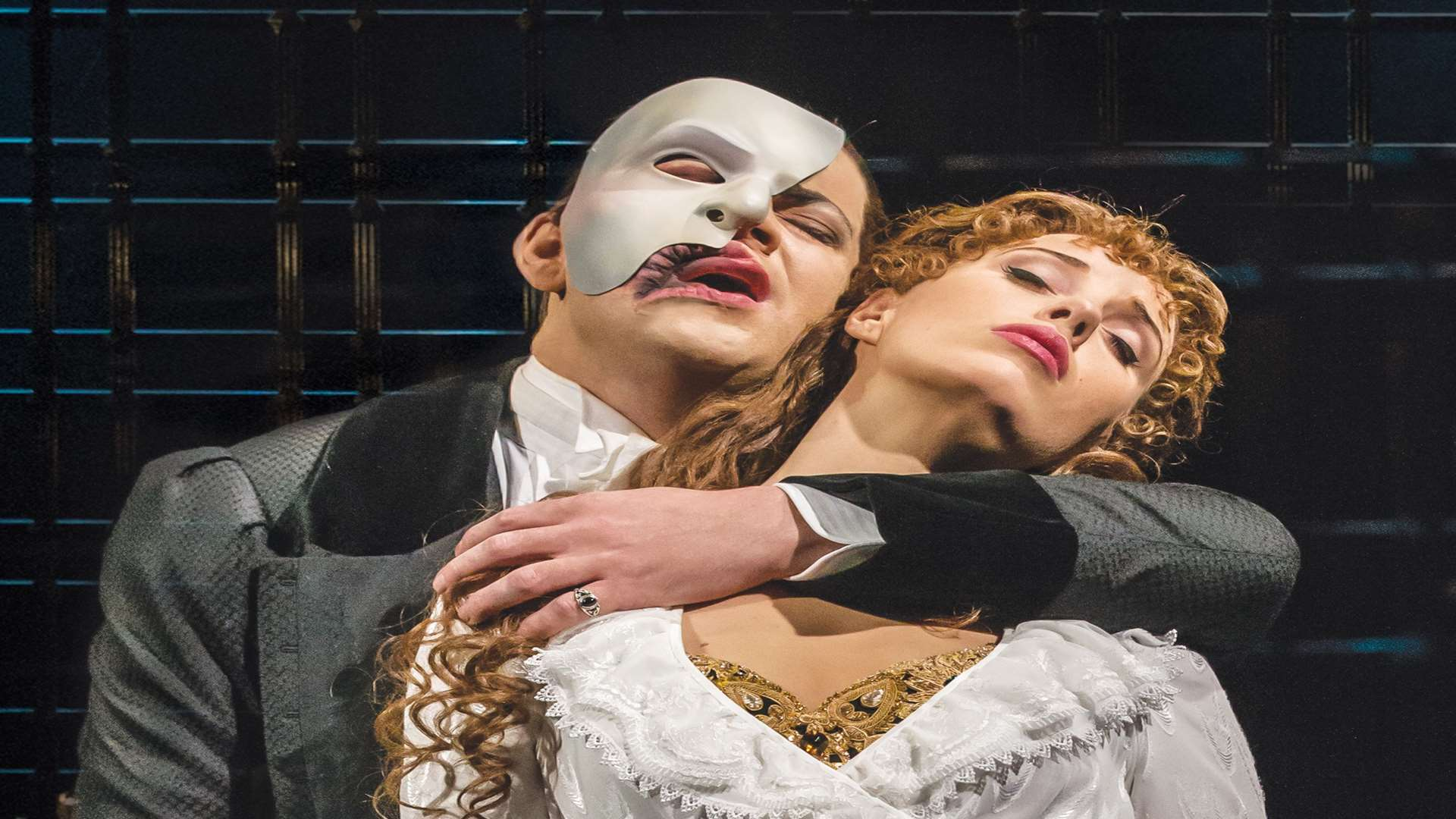 Ben Forster and Celinde Schoenmaker in The Phantom of the Opera in the West End