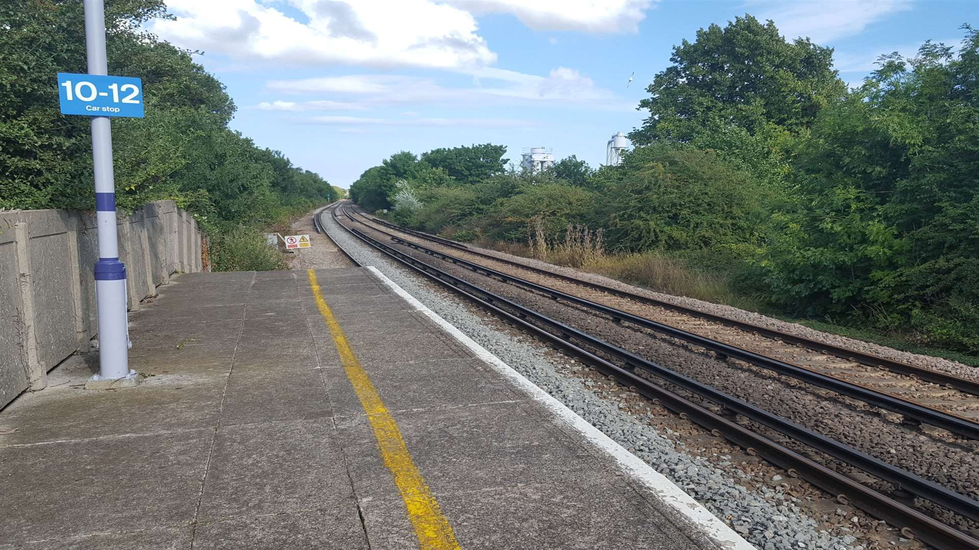 The scene from the platform at Herne Bay railway station near where Taiyah was found