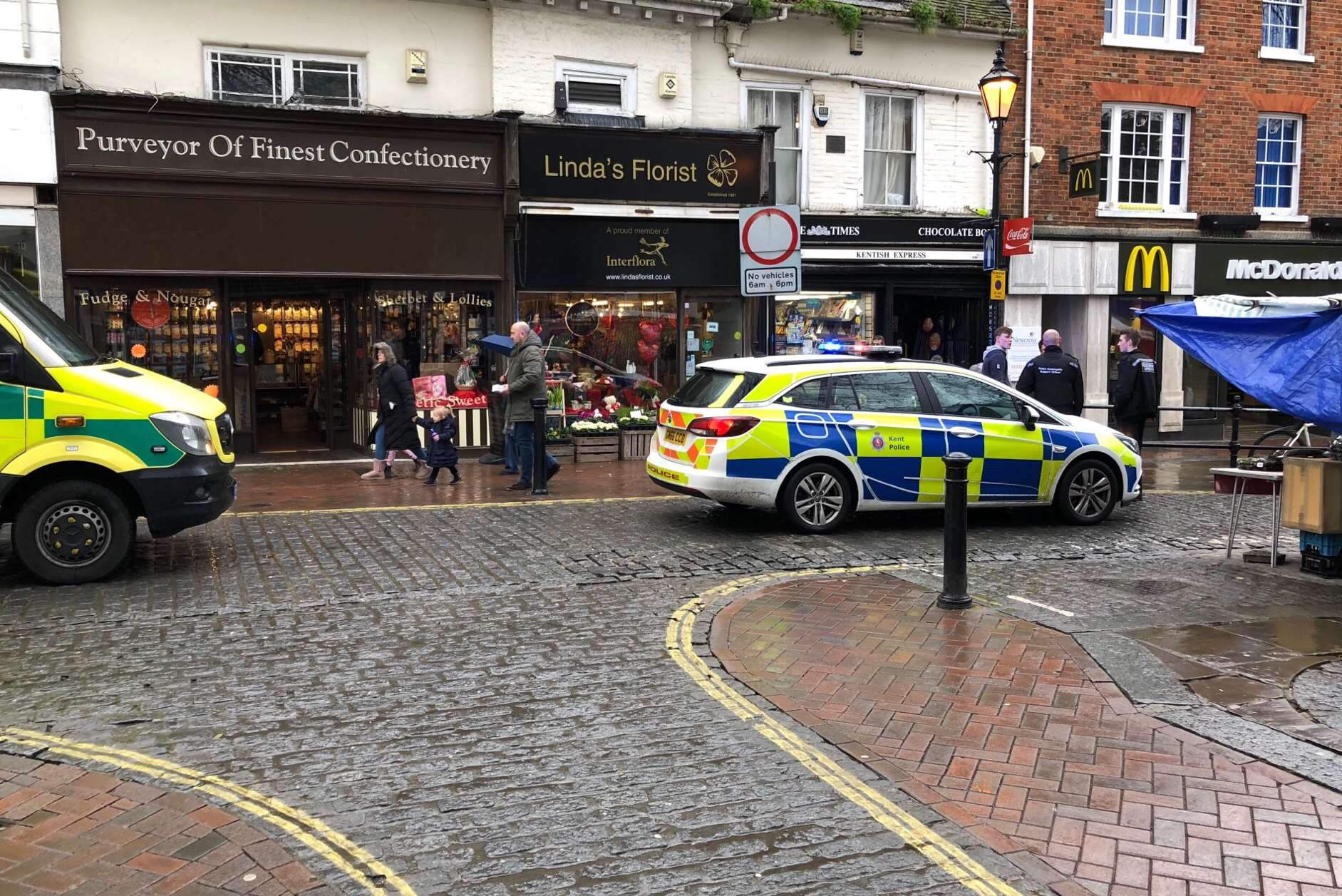Police and ambulance crews were called to Ashford. Picture by Steve R Salter