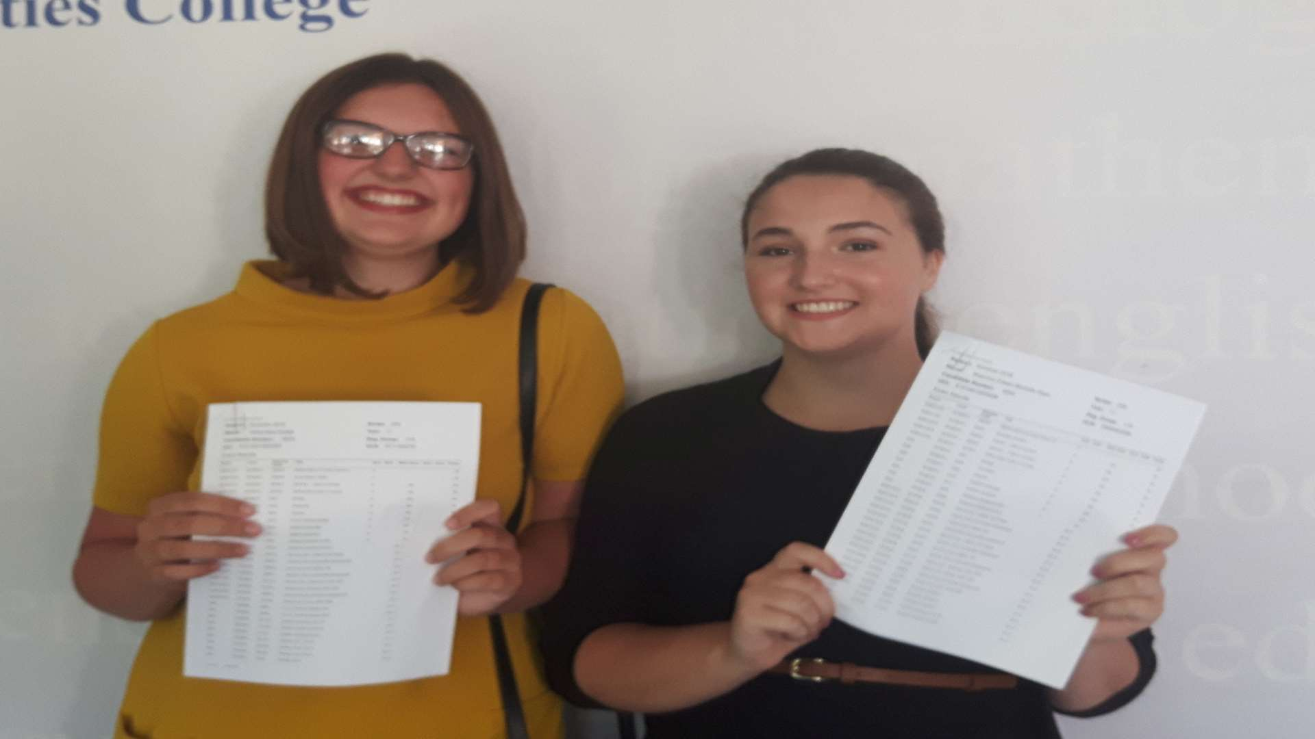 Star students Shannon Ryan and Olivia Dodge celebrate achieving 12 A*s each!