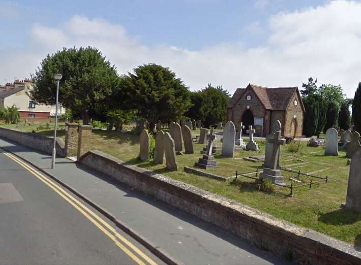 The cemetery off Woodnesborough Road in Sandwich where the attempted robbery took place Picture: Google Maps