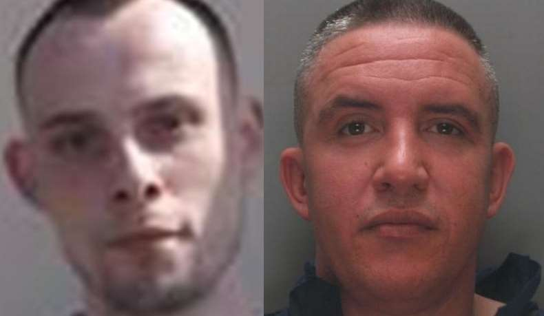 Prisoners Billy Harkins (left) and Scott Callaghan