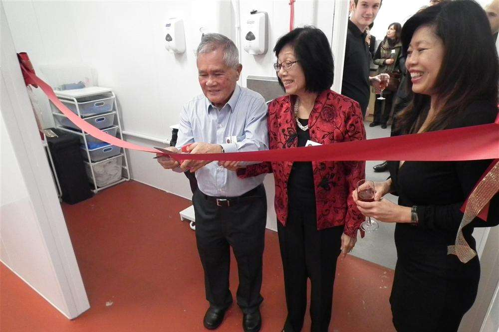 Monica Chia with father Siew and mother Fifi at the opening of the new Karimix premises at Selling, near Faversham
