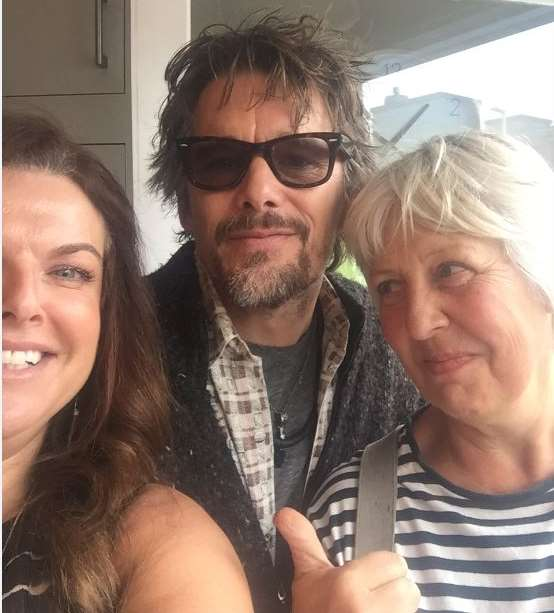Lisa and Jilly with Ethan Hawke