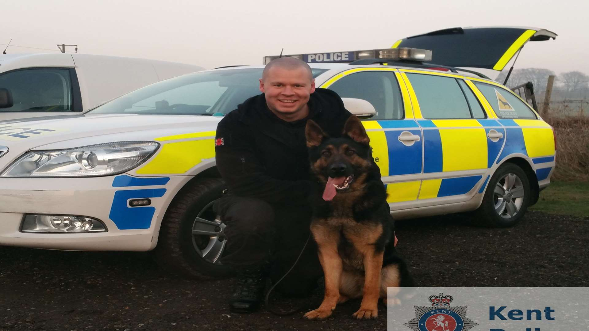 Eli and his handler PC Ed Goldswain