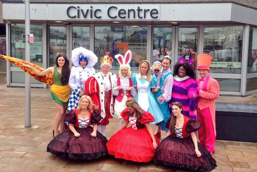 The cast of the Easter panto