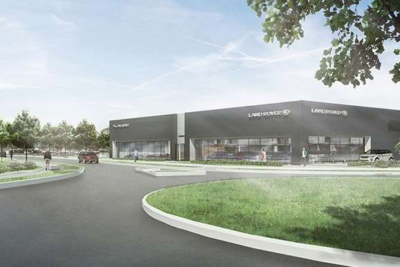 How the new Jaguar Land Rover dealership in Ashford could look