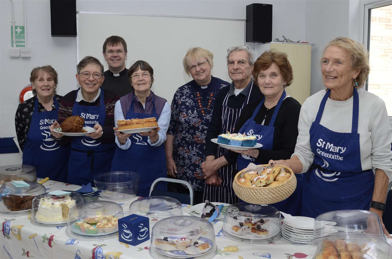 Carol Avery and fellow volunteers at the St Mary Greenhithe Community Cafe. Picture: Chris Davey