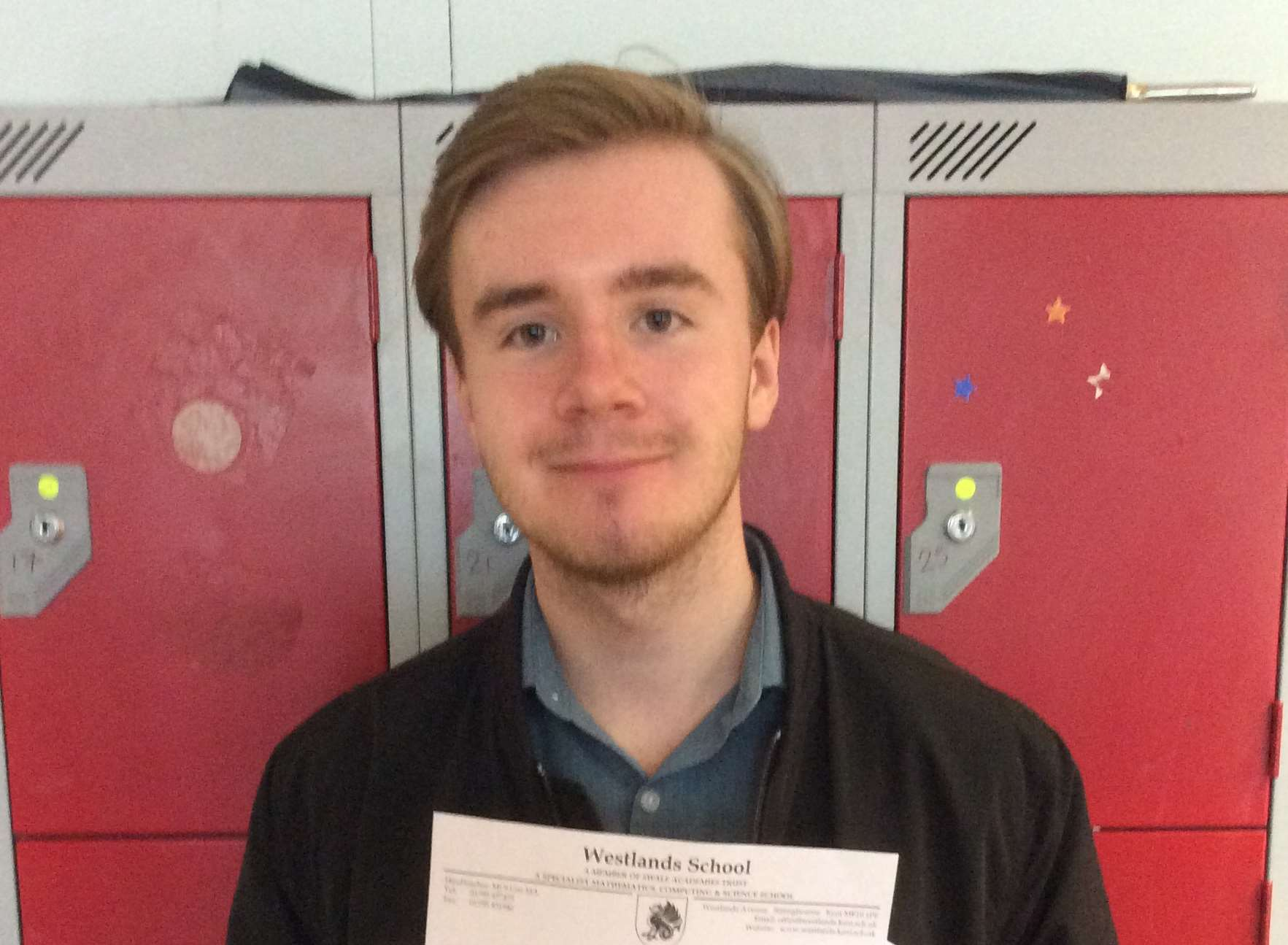 Ryan Gallop, of Swale Sixth Form, who achieved four A-grades