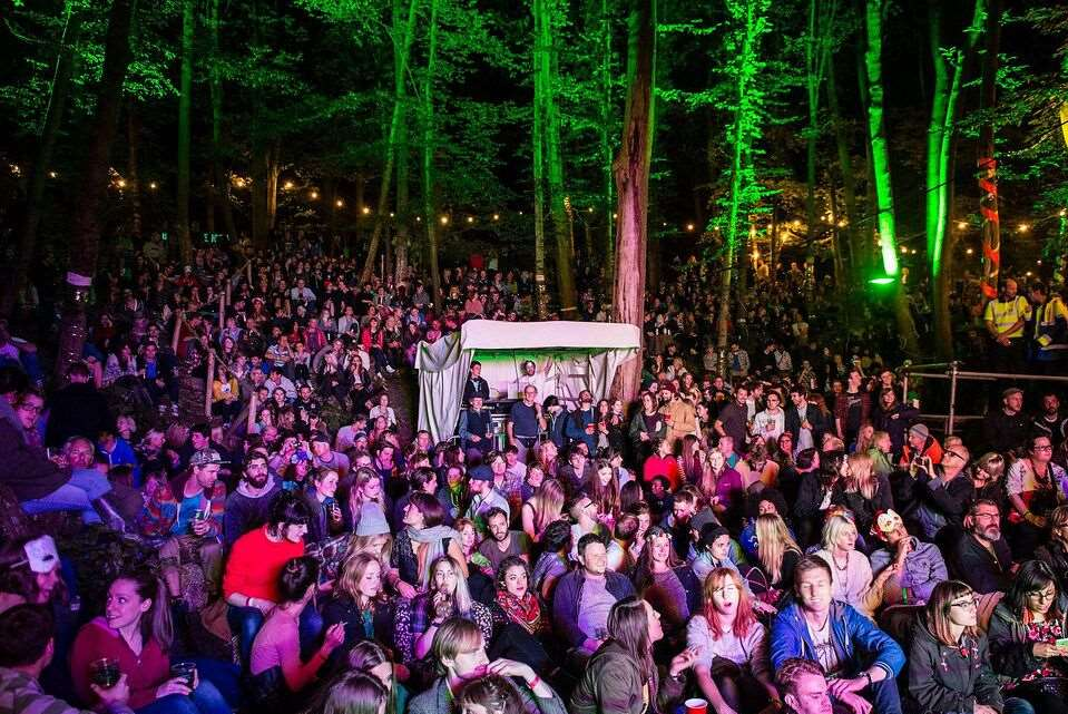 In the Woods Festival has a woodland location in Kent. Picture: Tony Jupp