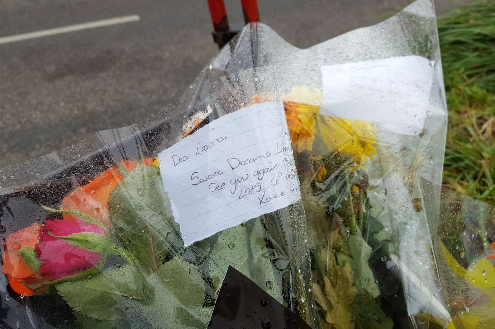 Flowers and messages have been left in Henhurst Road following the fatal crash
