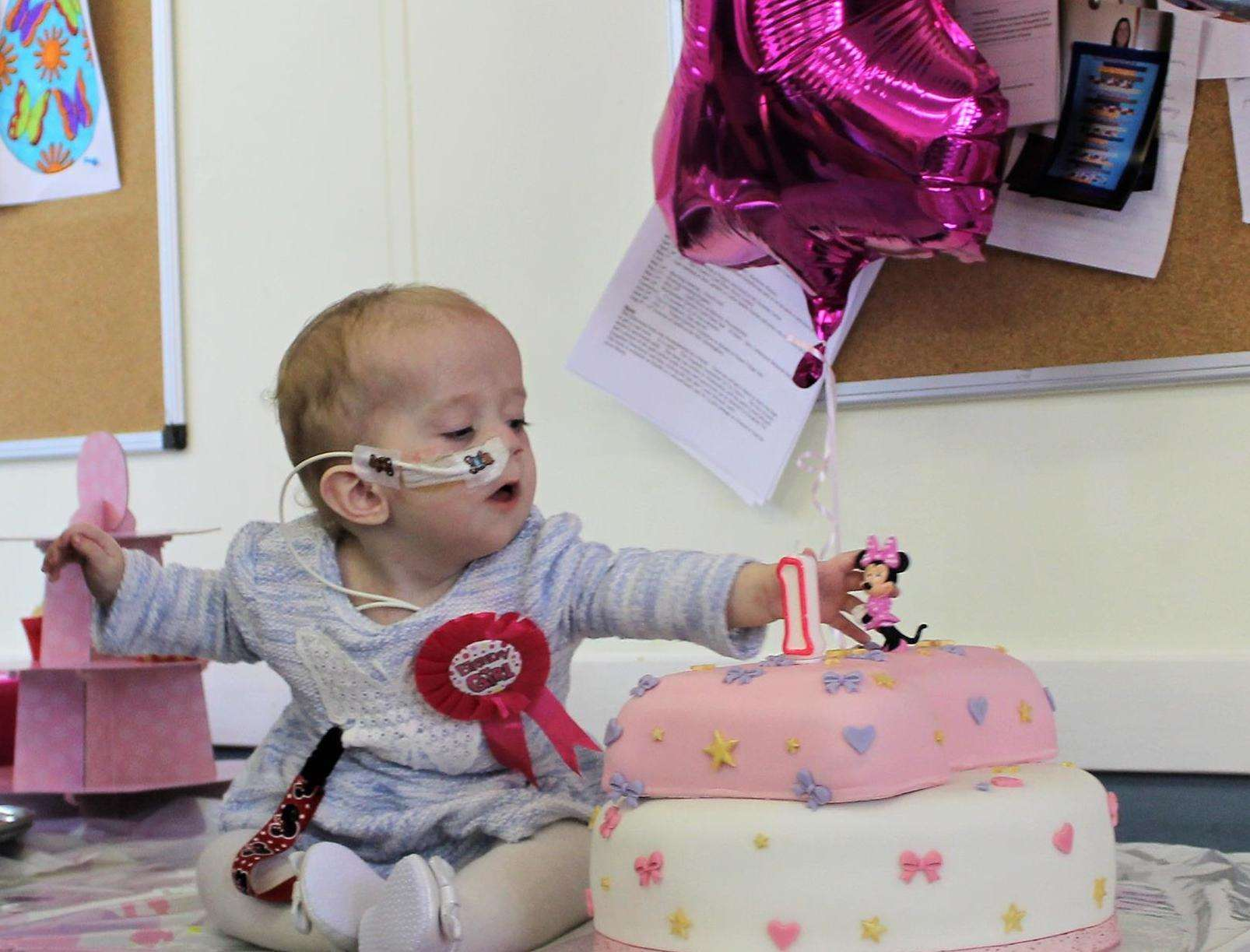 Natalie-Rose Denney-Hook has had three operations called off to replace a feeding tube
