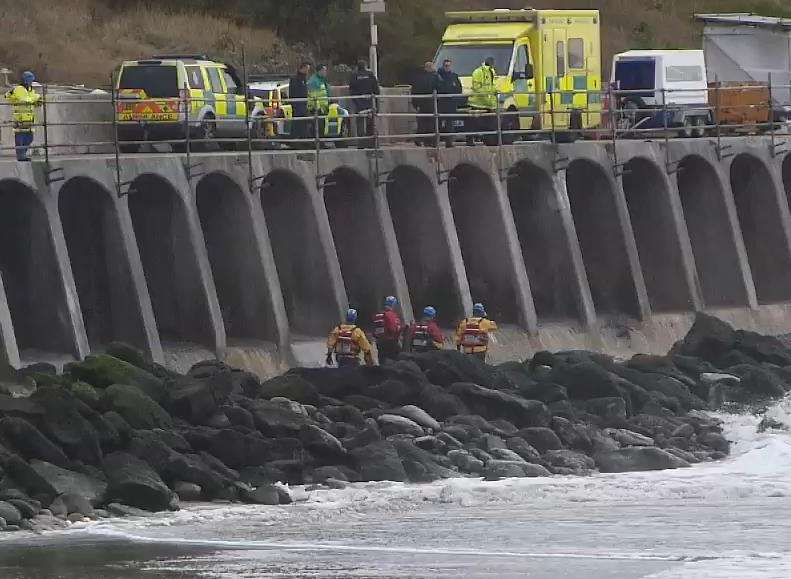 Emergency services at the Sunny Sands in Folkestone
