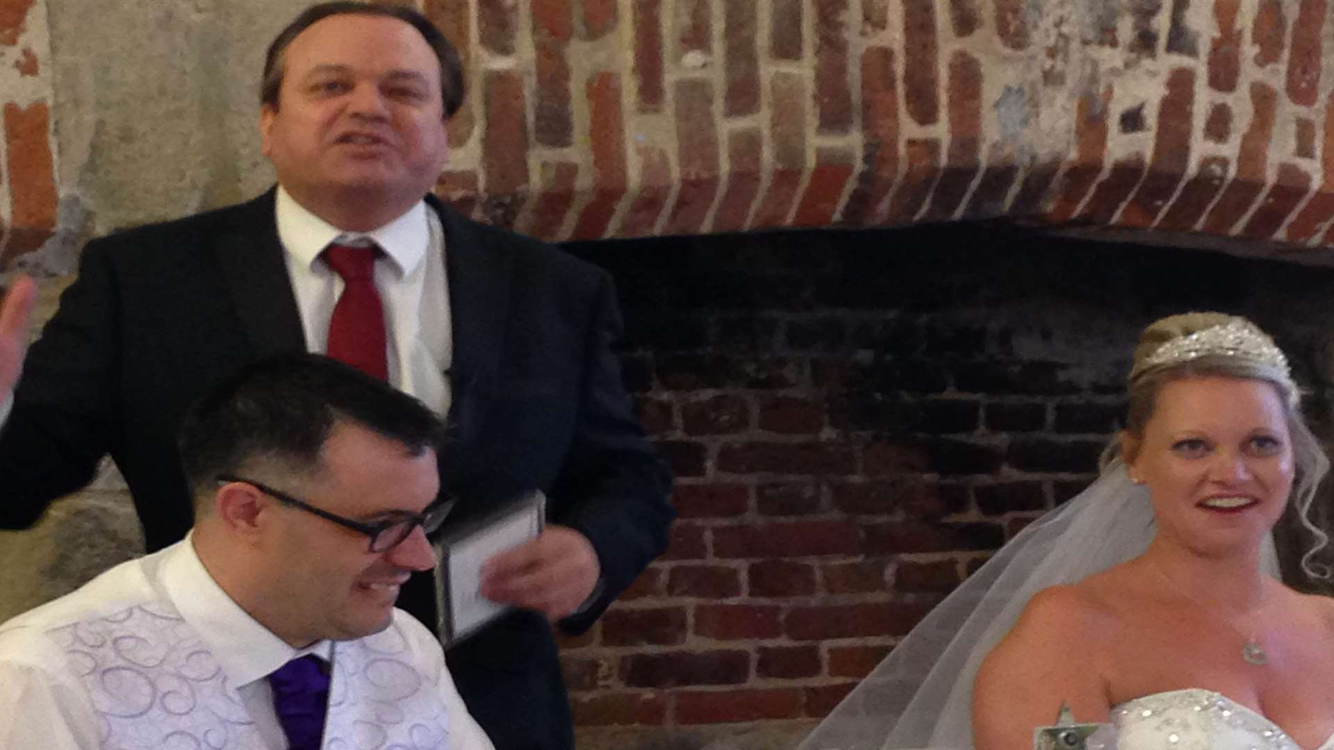 Former EastEnders star Shaun Williamson made a guest appearance at Stuart and Kirsty's wedding