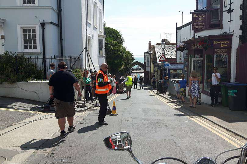 Crews were filming for an adaptation of Juliet, Naked. Pic: Chris Amos